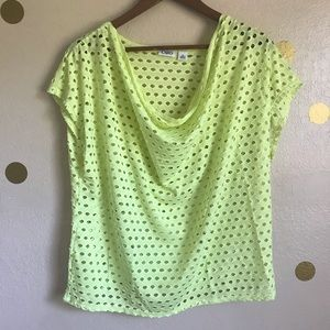 Cato Tennis Ball Yellow Tee. Size X-Large.